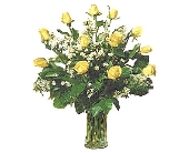 1 Dozen Yellow Roses in Dallas TX, Petals & Stems Florist