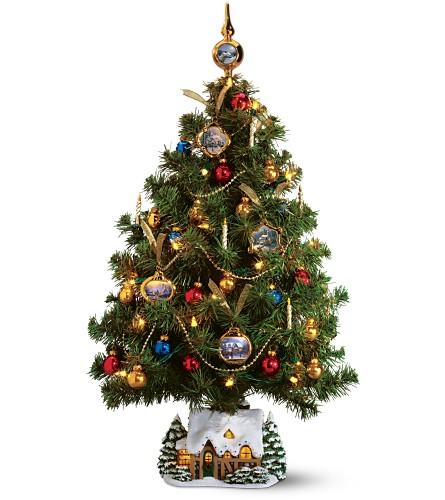 Teleflora S Thomas Kinkade Christmas Tree In Okc Metro Ca Misty S