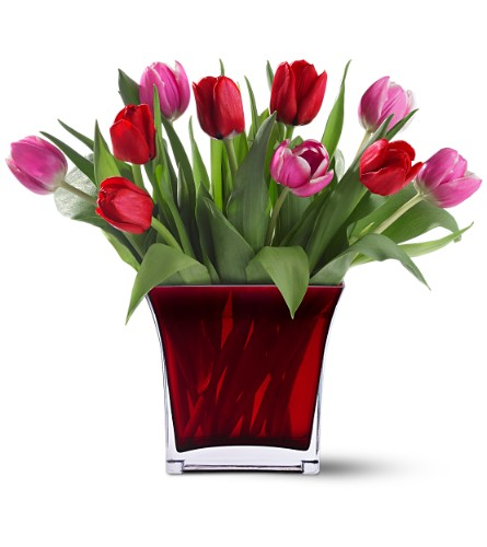 Teleflora 39 s tulips of love bouquet in bozeman mt langohr for Flower delivery bozeman mt