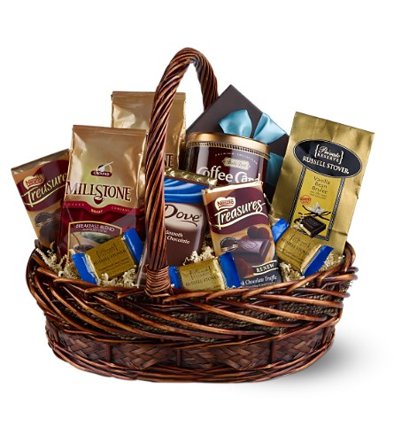 Chocolate & Coffee Basket in Chicago IL, La Salle Flowers