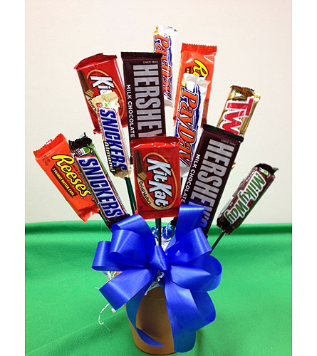 Candy Bar Bouquet in Brownsburg IN, Queen Anne's Lace Flowers & Gifts