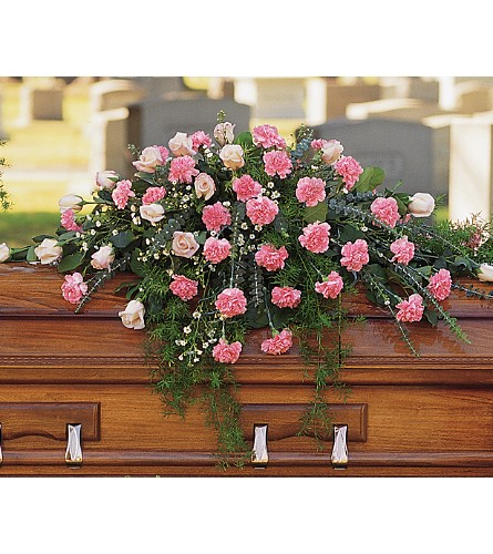 Heavenly Pink Casket Spray in St. Louis MO, Walter Knoll Florist