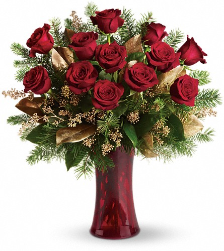 A Christmas Dozen in Hastings NE, Bob Sass Flowers, Inc.