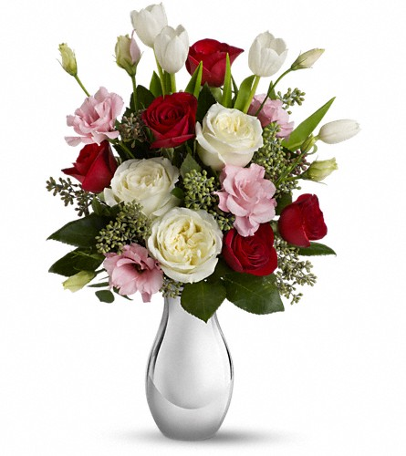 Teleflora's Love Forever Bouquet with Red Roses in North Bay ON, The Flower Garden