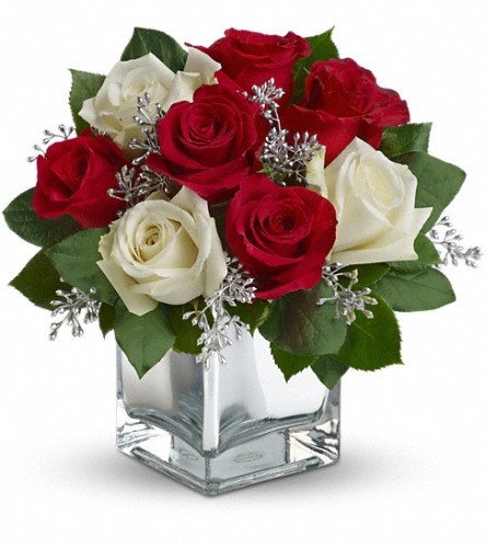 Teleflora's Snowy Night Bouquet, FlowerShopping.com