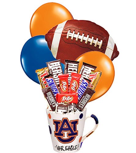 Designer Auburn Football Candy Bouquet in Birmingham AL, Norton's Florist