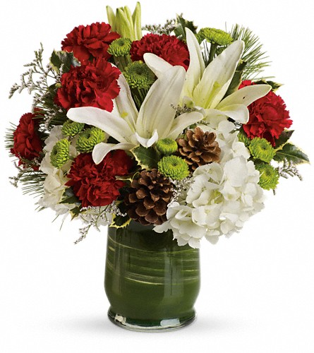 Christmas Collage Bouquet in Raritan NJ, Angelone's Florist - 800-723-5078