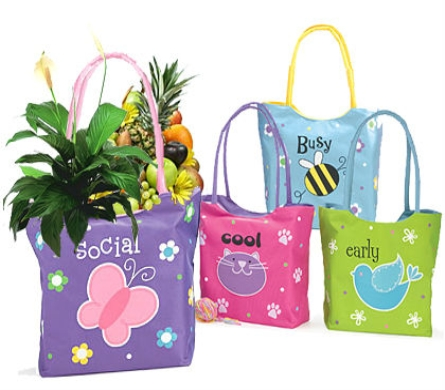 Fruits & Blooms Tote Bag in Birmingham AL, Norton's Florist