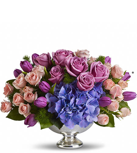 Purple Elegance Centerpiece in McLean VA, MyFlorist