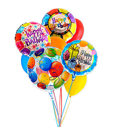 Birthday Assorted Balloon Bouquet in Raritan NJ, Angelone's Florist - 800-723-5078