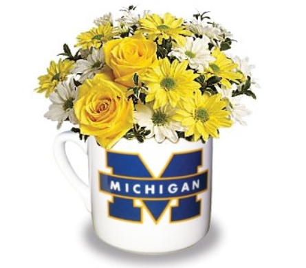 U of M Mug Arrangement in Perrysburg & Toledo OH  OH, Ken's Flower Shops