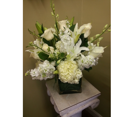 Simplistic Whites in Charlotte NC, Starclaire House Of Flowers Florist