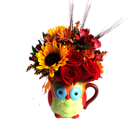 Autumn Owl Bouquet in Birmingham AL, Norton's Florist