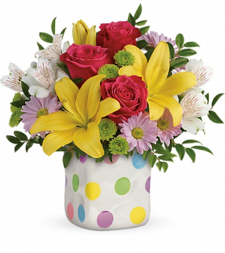 Teleflora's Delightful Dots Bouquet in North Bay ON, The Flower Garden