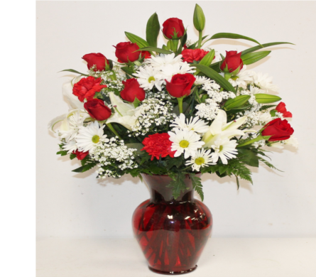 Be My Love Bouquet with Red Roses in Houston TX, Ace Flowers
