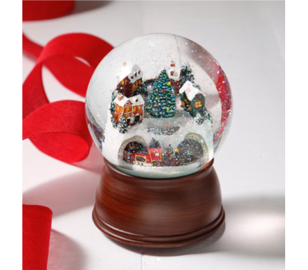 House & Train Musical Snow-globe  in Perrysburg & Toledo OH  OH, Ken's Flower Shops