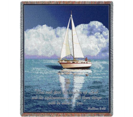 Sailboat Scripture Throw in Perrysburg & Toledo OH  OH, Ken's Flower Shops