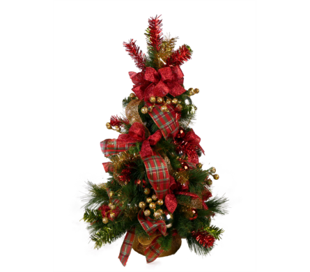 Red, Green and Gold Tree in Indianapolis IN, McNamara Florist
