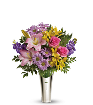 Silver Cross Bouquet