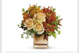 bouquets in rich fall tones