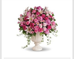 bouquets in pretty spring colors