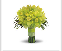 bouquets in sunny yellow and greens